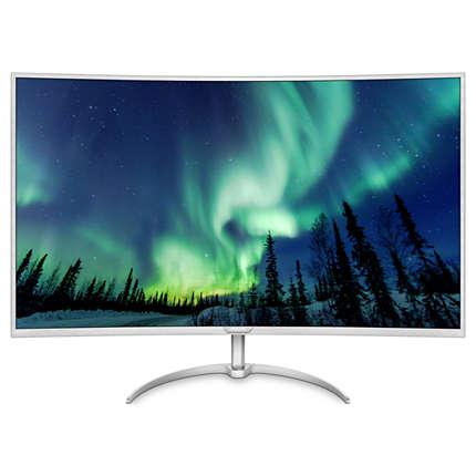 "Philips LCD BDM4037UW 40"" wide zakřivený 4K/3840x2160/5ms/50mil:1/VGA/2xHDMI/4xUSB/2xDP/MHL/LED/IPS/repro/vesa"