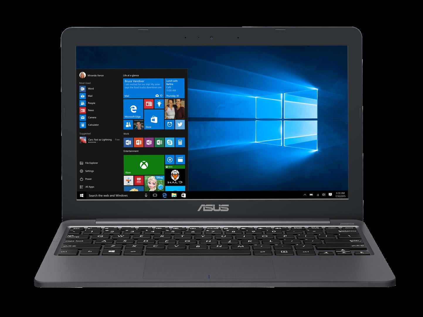"ASUS E203NA-FD107TS Celeron N3350/4GB/32GB EMMC/Intel HD Graphics 500/11,6"" 1366x768 HD/Lesklý/BT/W10 Home/Grey"