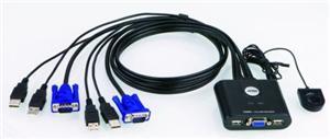ATEN KVM přepínač CS-22U USB 2PC mini