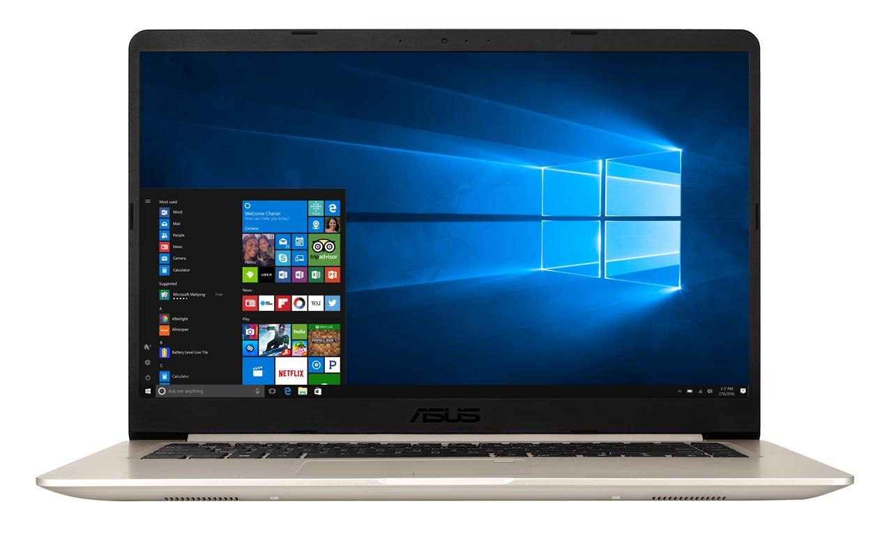 """ASUS S510UN-BQ070T Core i5-8250U/8GB/1TB 5400ot+128GB SSD SATA3/GeForce MX150 2GB/15,6"""" 1920x1080 FHD/Matný//BT/W10 Home/Gold"""