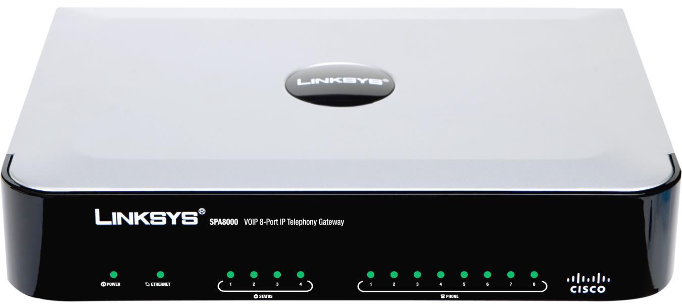 Cisco SPA8000 8-port IP Telephony Gateway