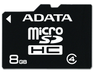 ADATA micro SDHC karta 8GB Class 4