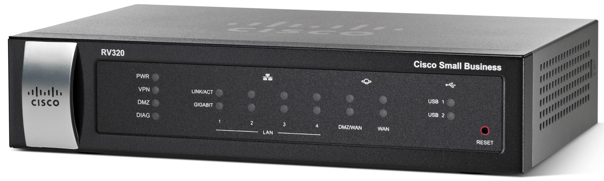 Cisco RV320, 2x Gigabit WAN, 4x Gigabit LAN VPN Router