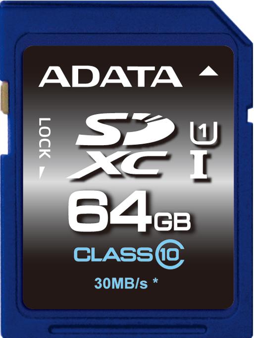 ADATA SDXC 64GB UHS-I Premier,Class 10