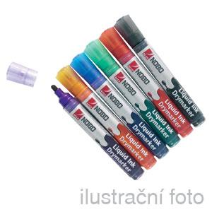 Popisovač NOBO 3-in-1 LIQUID INK tenký, mix