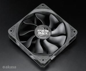 ventilátor Akasa - 12 cm APACHE black