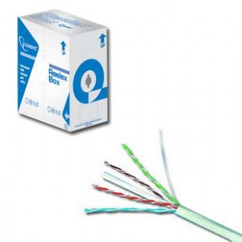 Gembird FTP kabel drát, cat. 5e, 305m, šedý