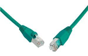 Patch kabel CAT5E SFTP PVC 10m zelený
