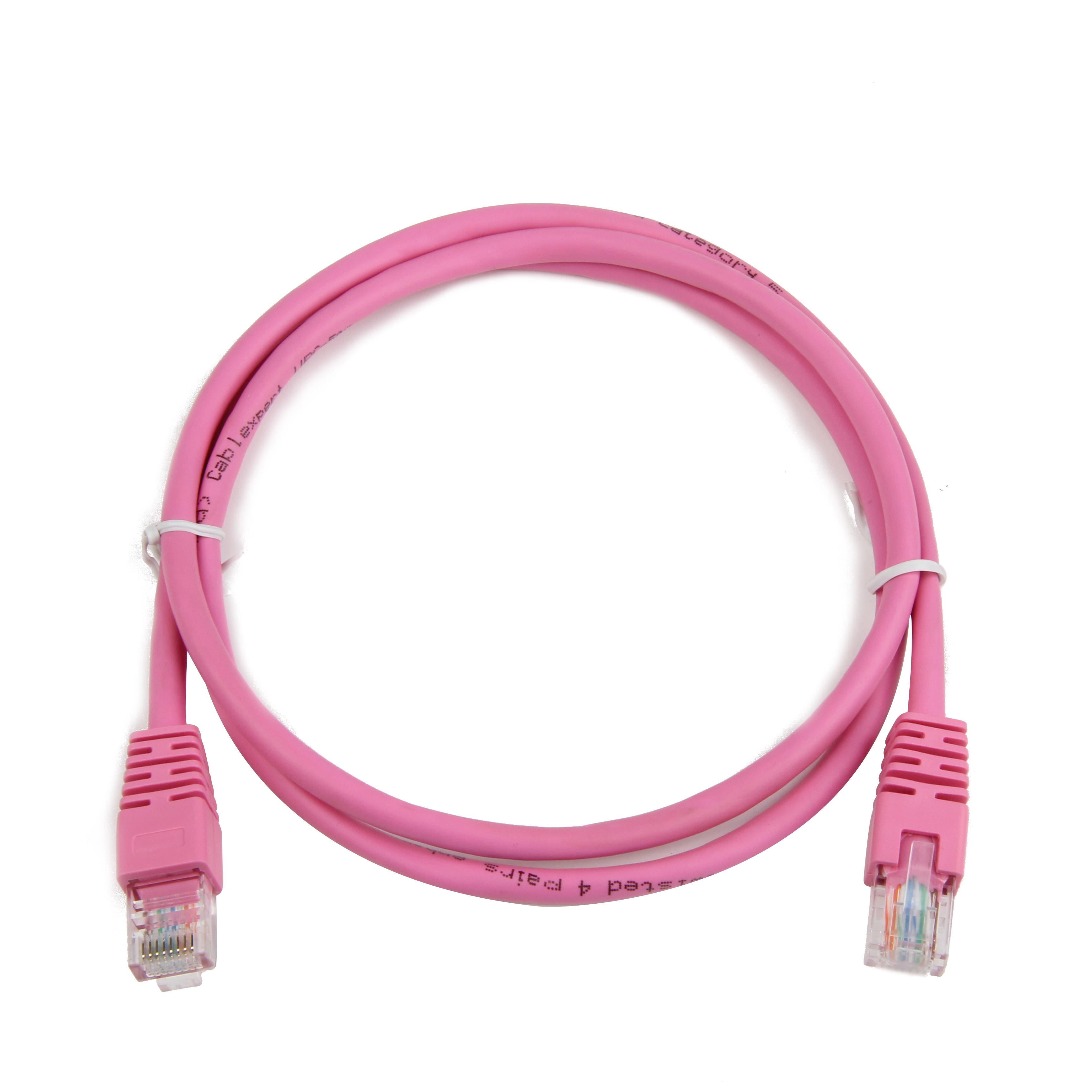 GEMBIRD Eth Patch kabel cat5e UTP 1m - růžový