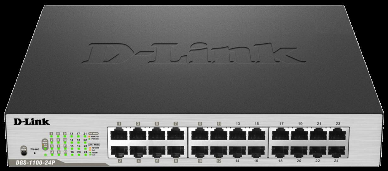 D-Link 24-Port Gigabit Smart Switch (12 X PoE max. 100W)