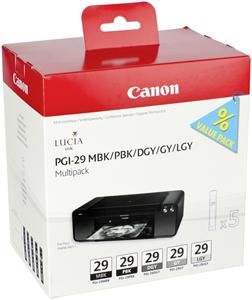 Canon cartridge PGI-29 MBK/PBK/DGY/GY/LGY/CO Multi