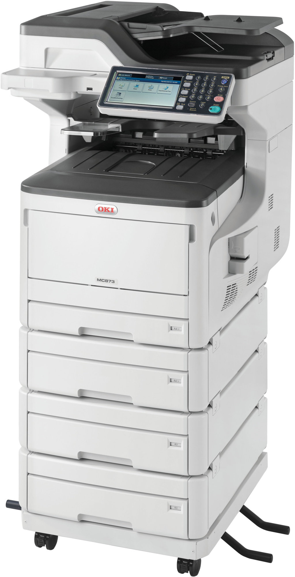 Oki MC873dnv A3 35ppm ProQ2400DPI, PCL/PS,USB,LAN (Print/Scan/Copy/Fax), 250GB HDD