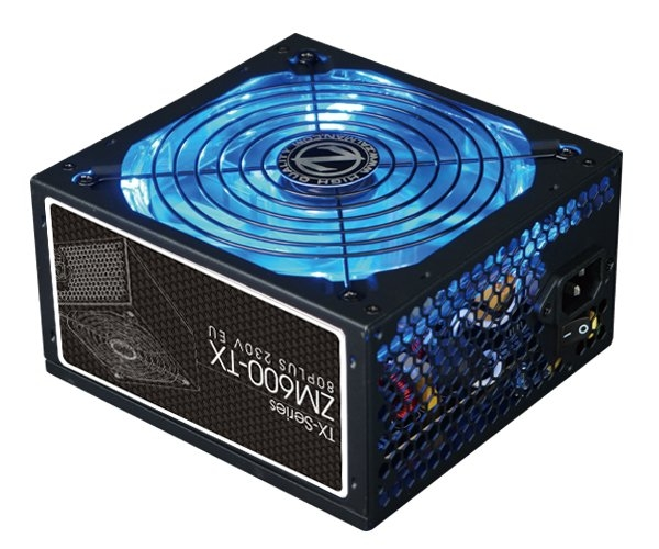 Zalman zdroj ZM600-TX 600W 86% 80Plus ATX12V 2.3 PFC 14cm fan, ErP 2013