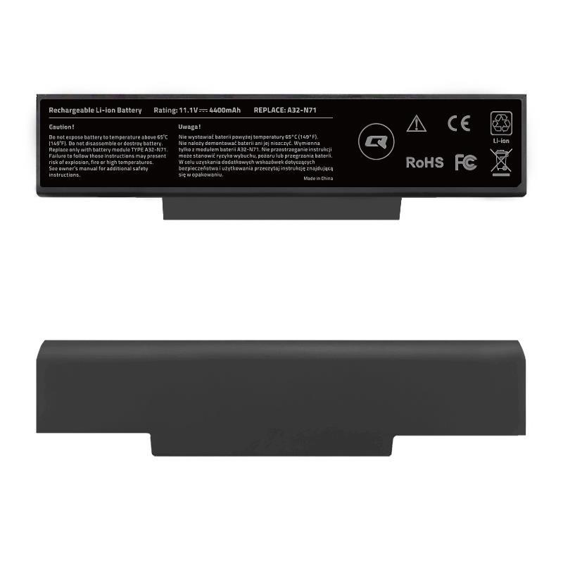 Qoltec Long Life baterie pro notebooky Asus A32-K72 K72J | 10.8-11.1V | 4400mAh