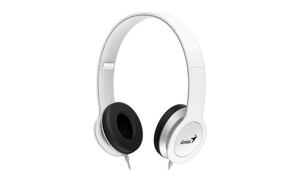 Genius headset - HS-M430 sluchátka s mikrofonem/ bílé/ single jack!
