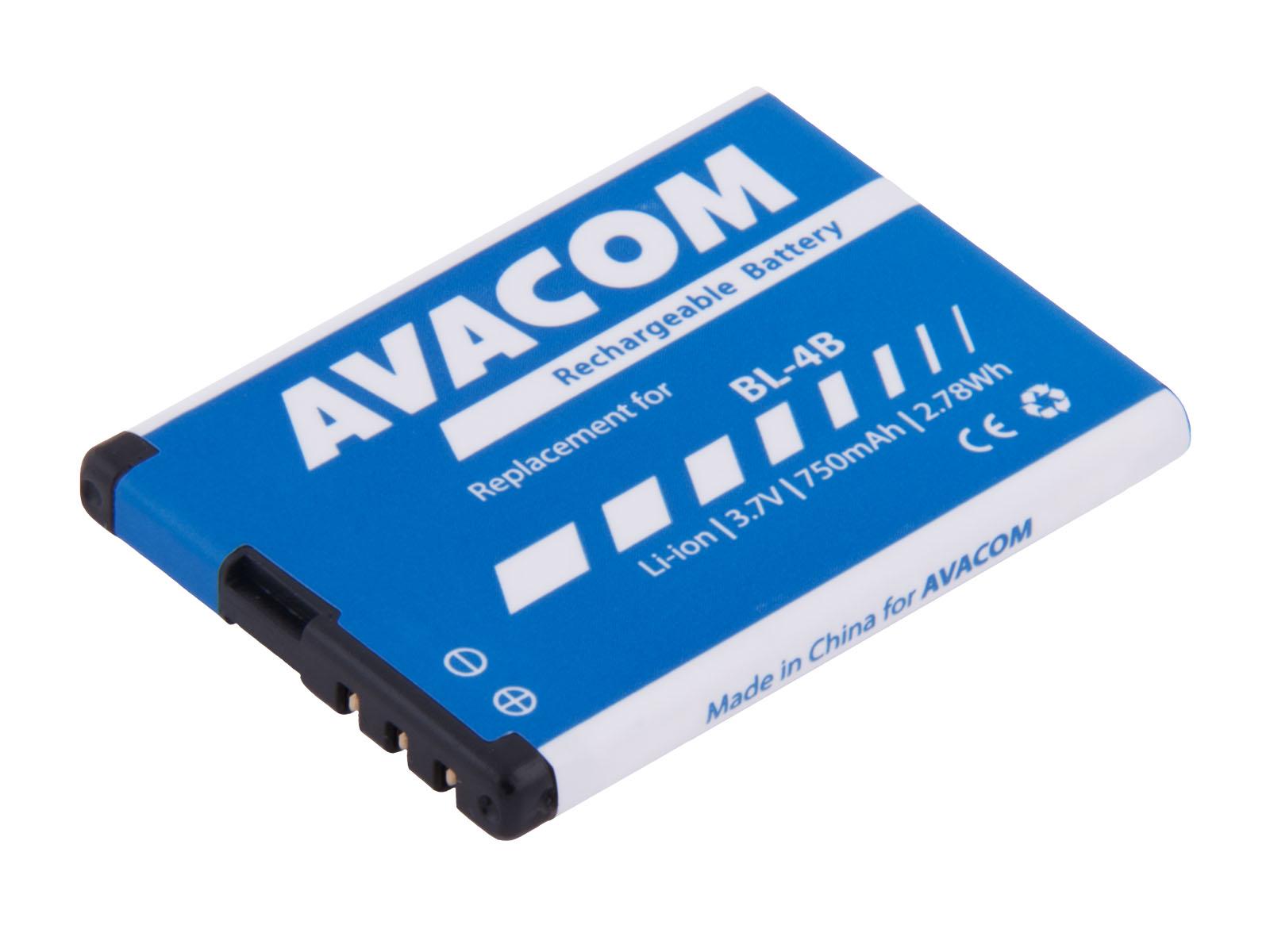 Baterie do mobilu Nokia 6111 Li-Ion 3,7V 750mAh (náhrada BL-4B)