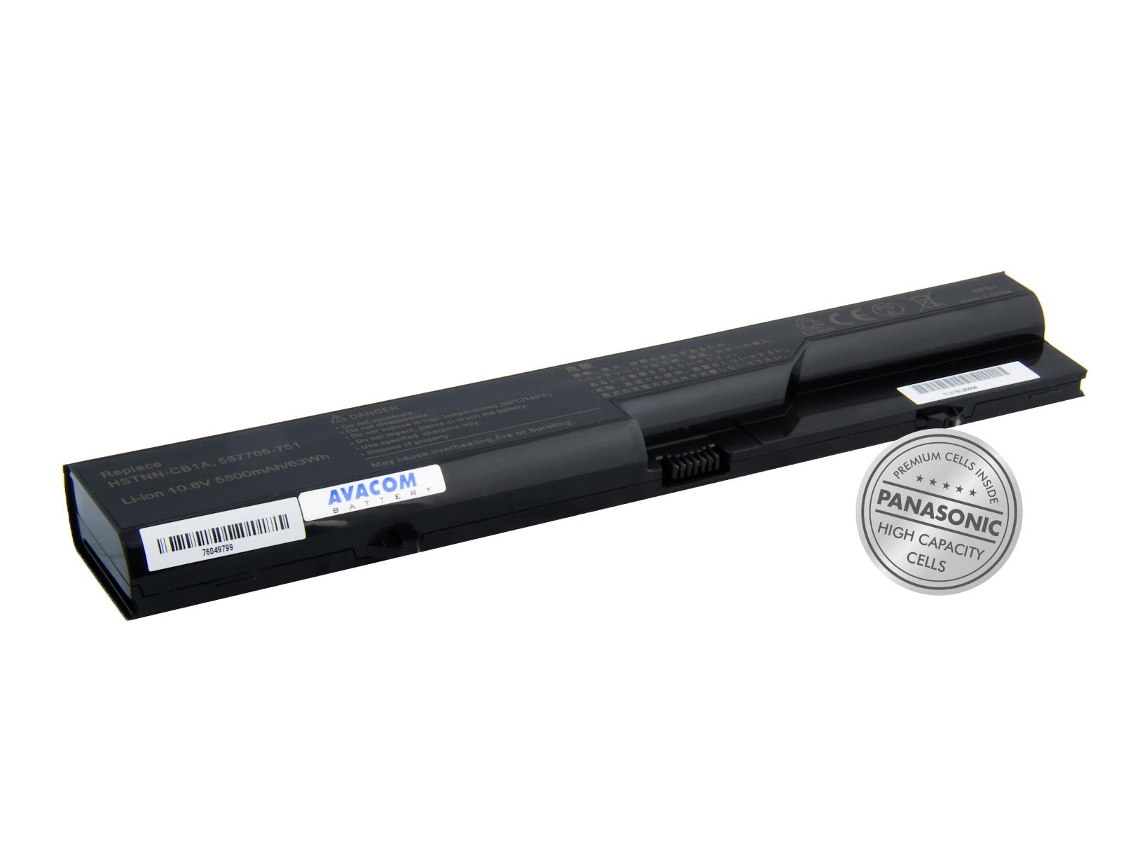 Náhradní baterie AVACOM HP ProBook 4320s/4420s/4520s series Li-Ion 10,8V 5800mAh/63Wh