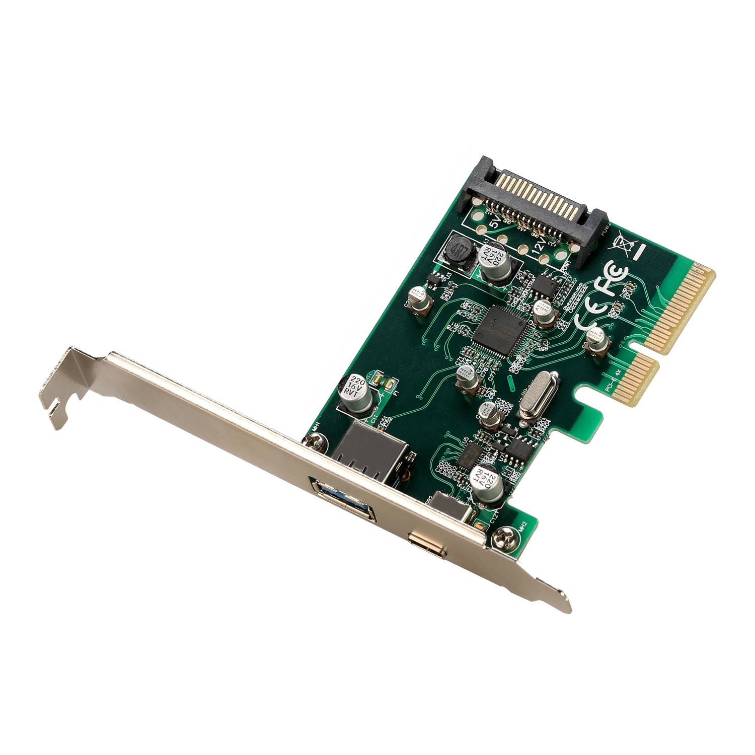 i-tec PCIe Card USB 3.1 gen2 10Gps Card 1x Type C 1x Type A port