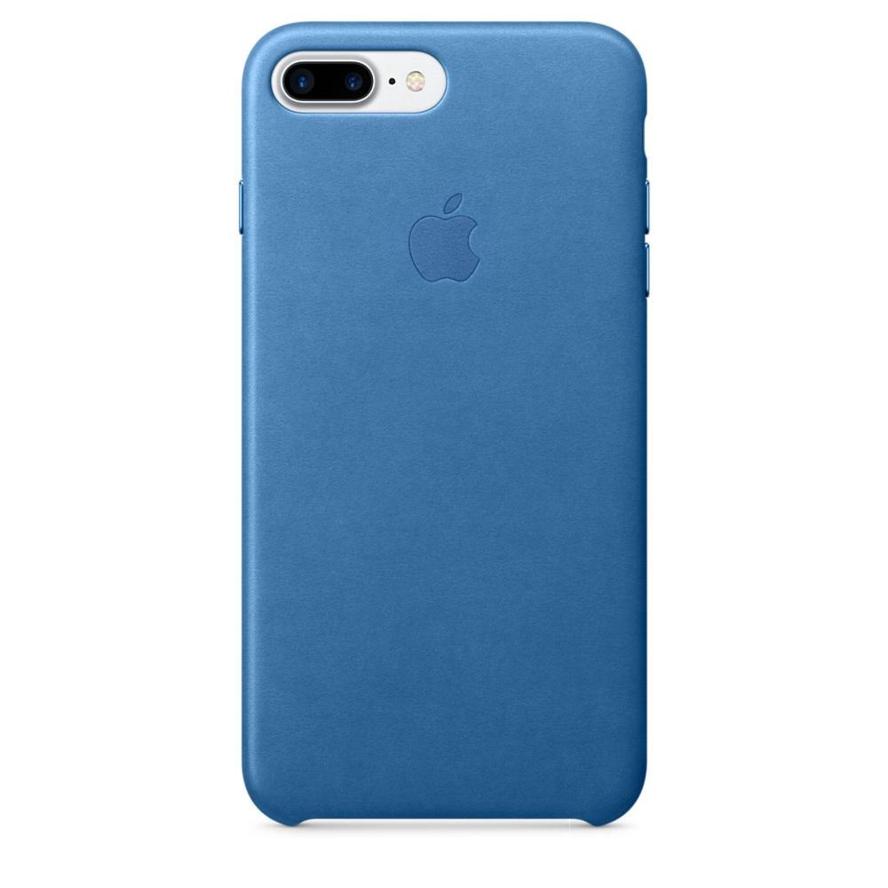 iPhone 7 Plus Leather Case - Sea Blue