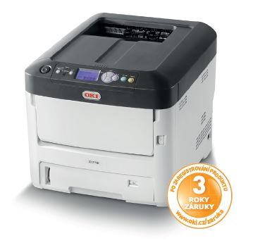 Oki C712n A4 36/34 ppm ProQ2400 dpi, PCL, USB, LAN, 256MB RAM