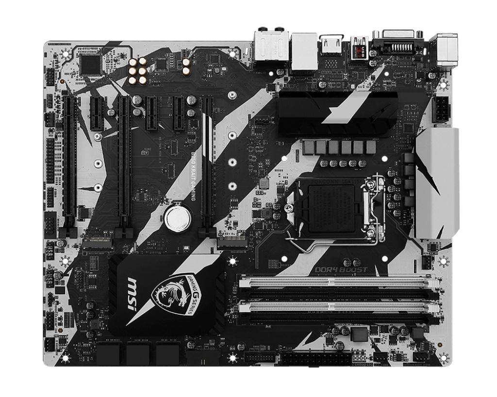 MSI B250 KRAIT GAMING 1151, DDR4, 4x PCI-E x1, 6x SATAIII, HDMI, DVI, ATX, Black/Matt