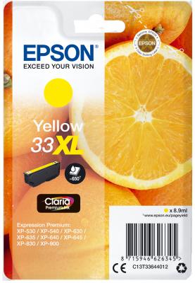 Epson Singlepack Yellow 33XL Claria Premium Ink