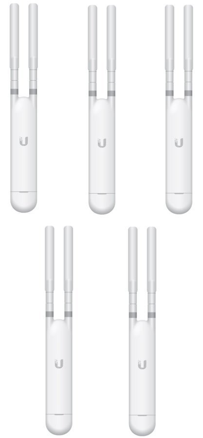 Ubiquiti UniFi UAP AC Mesh 802.11AC Indoor/Outdoor Access Point, 24V/802.3af PoE - 5-Pack