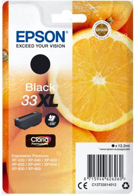 Epson Singlepack Black 33XL Claria Premium Ink