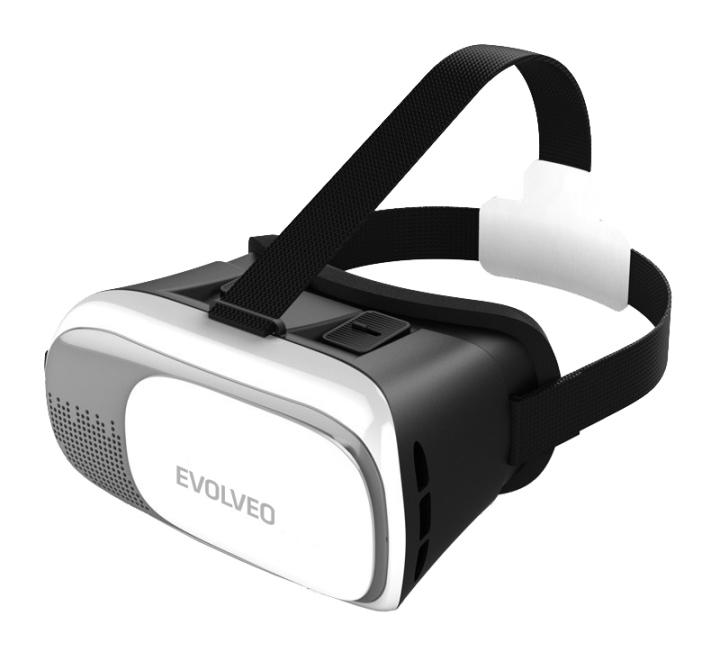 EVOLVEO VRC-4, brýle pro virtuální realitu, 360°, 3D, kompatibilita s iOS/Android/Windows