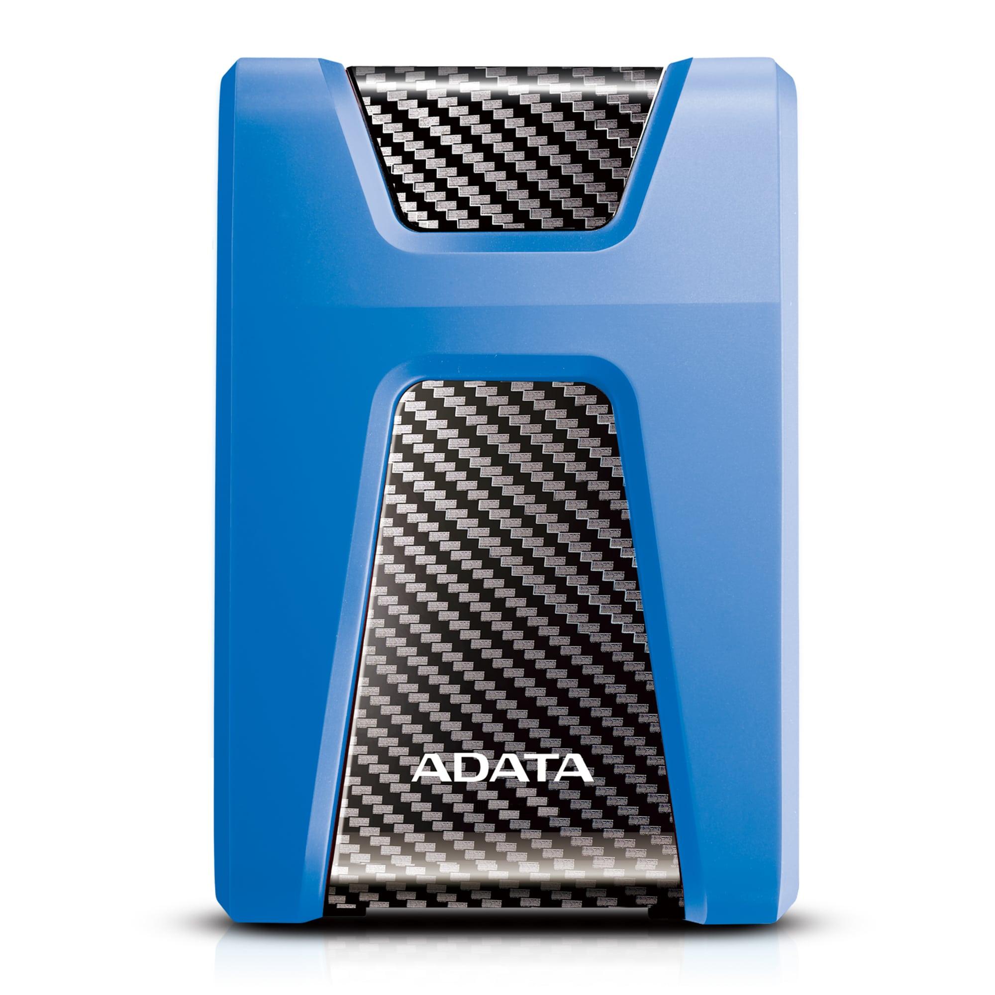 "ADATA Externí HDD 2TB 2,5"" USB 3.1 DashDrive Durable HD650, modrý (gumový, nárazu odolný)"