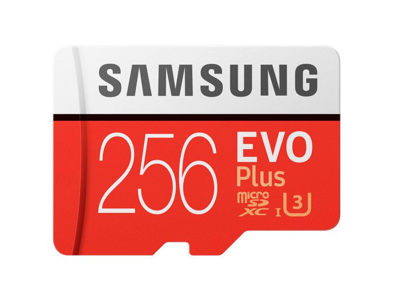 Samsung paměťová karta 256GB EVO Plus Micro SDXC UHS-I U3 Class 10 (čtení/zápis: 100/90MB/s) + SD adaptér