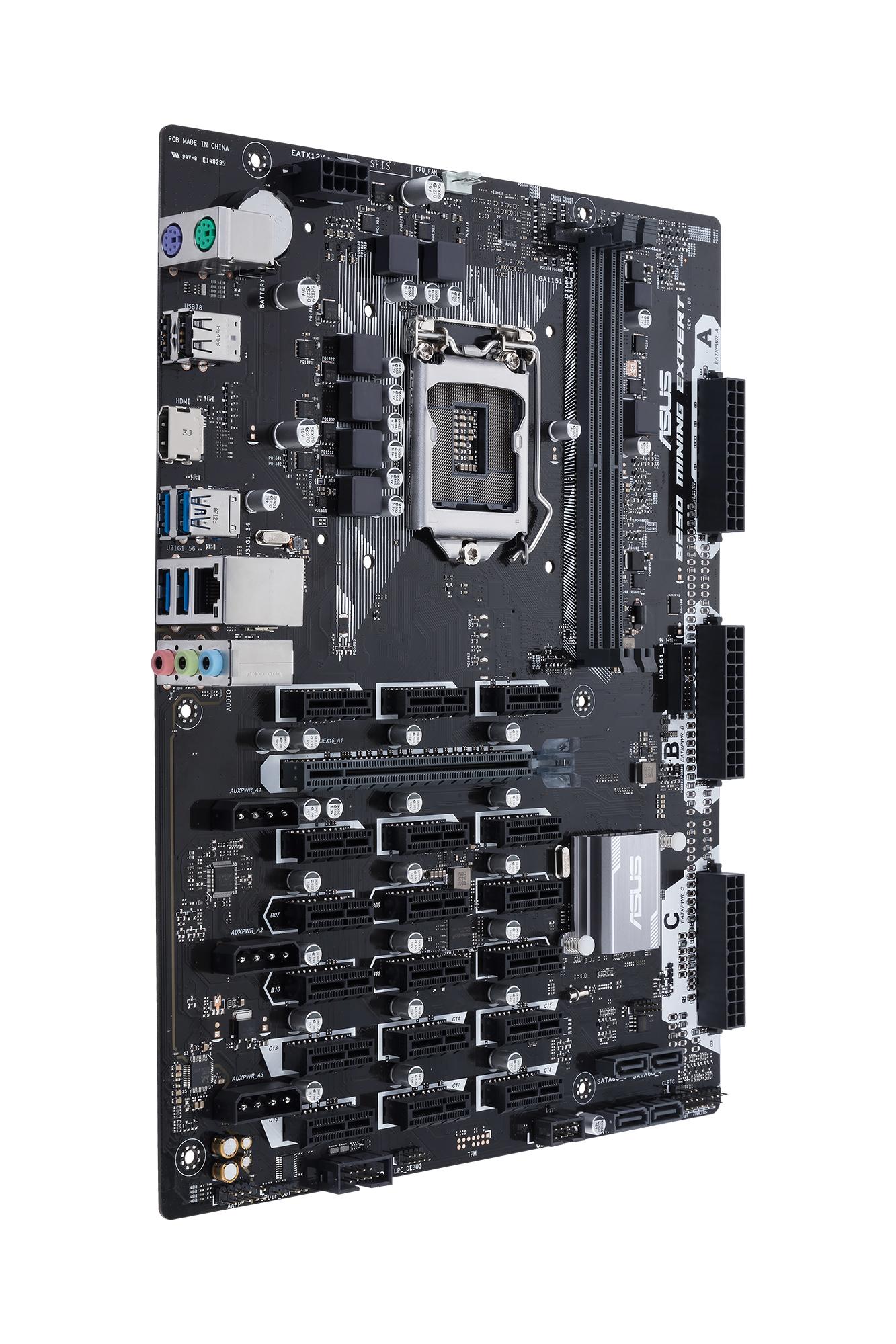 ASUS B250 MINING EXPERT Intel Socket 1151/2DDR4/1 x PCIe x16/SATA 6Gb/s*4/ATX