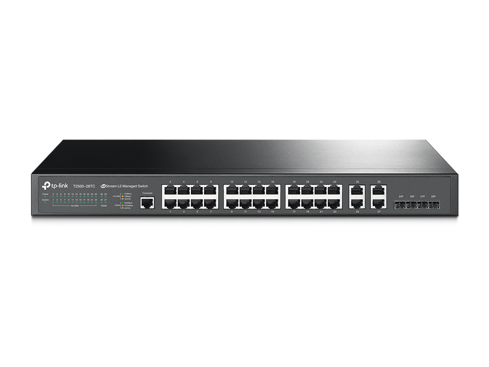 TP-Link T2500-28TC L2 Managed Switch, 24x 10/100Mbps, 4xGb Switch