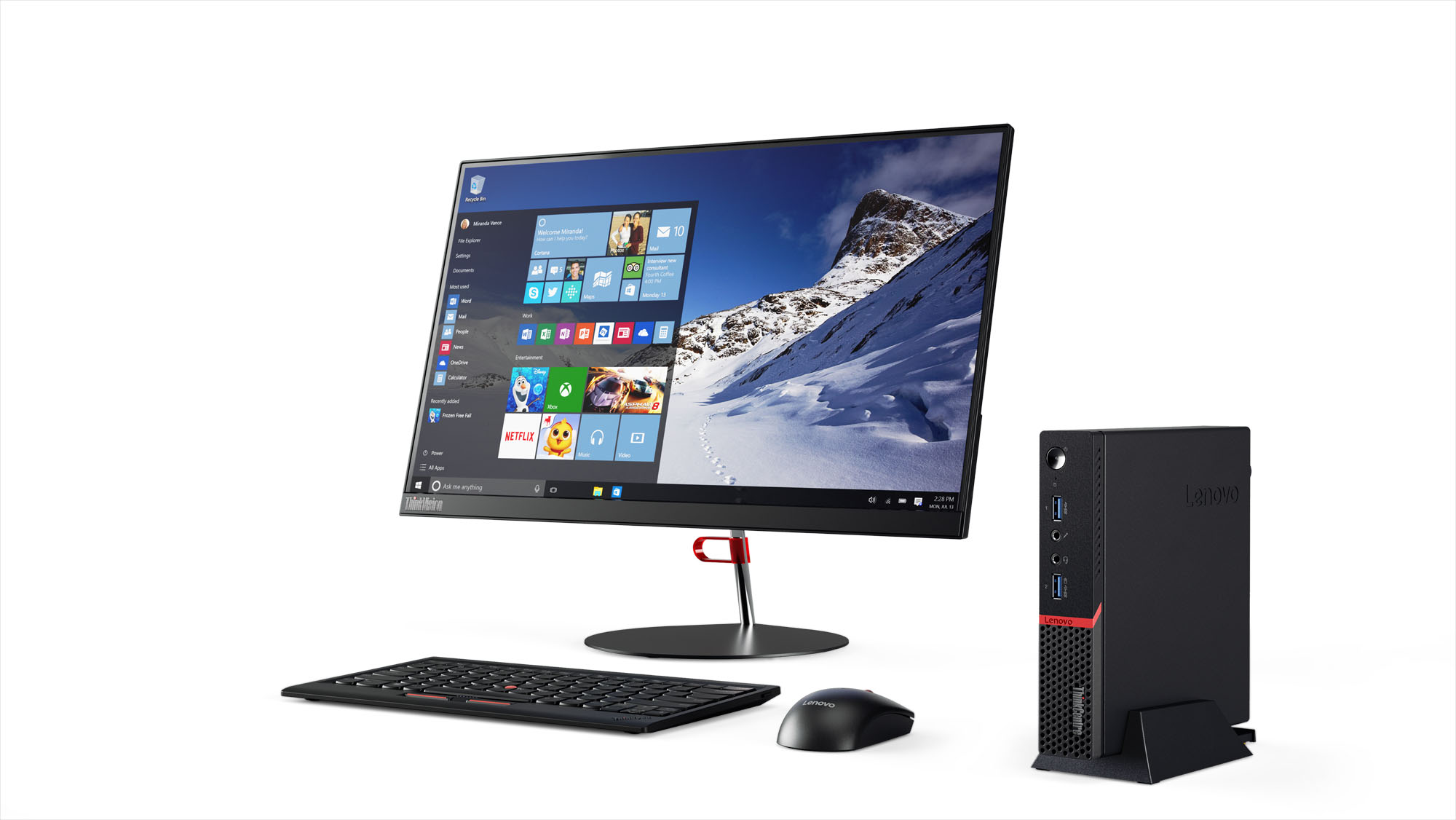 ThinkCentre M600 J3710/4GB/128GB SSD/TINY/Win10PRO
