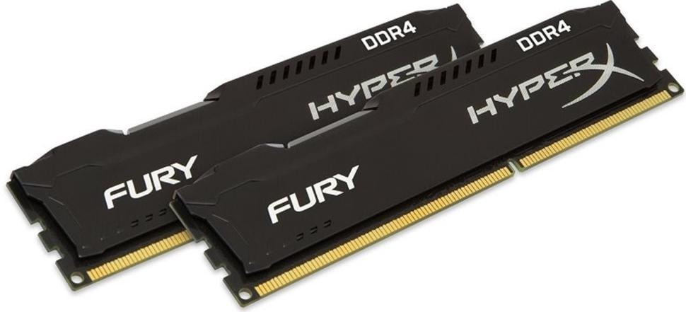KINGSTON 32GB 2666MHz DDR4 CL16 DIMM (Kit of 2) HyperX FURY Black