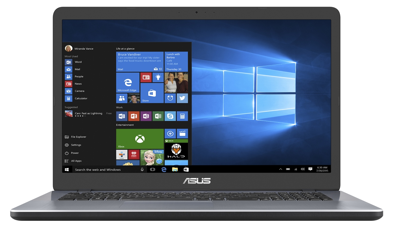 "ASUS X705UA-BX022T i3-7100U/4GB/1TB/Graphics Share/17,3"" HD+ matný/BT/W10 Home/Gery"