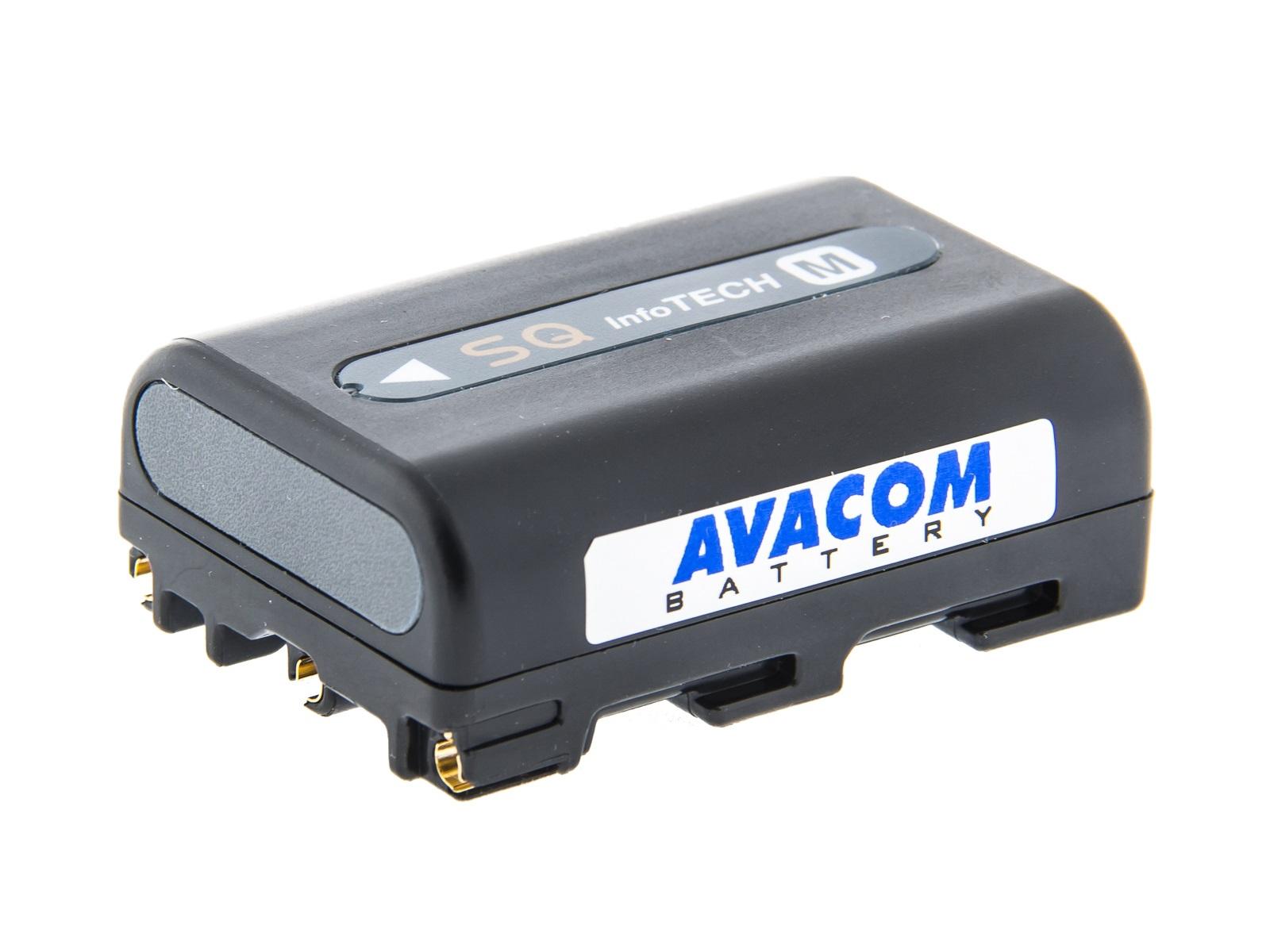 Baterie AVACOM Sony NP-FM50, QM50 Li-Ion 7.2V 1100mAh 7.9Wh tmavě šedá