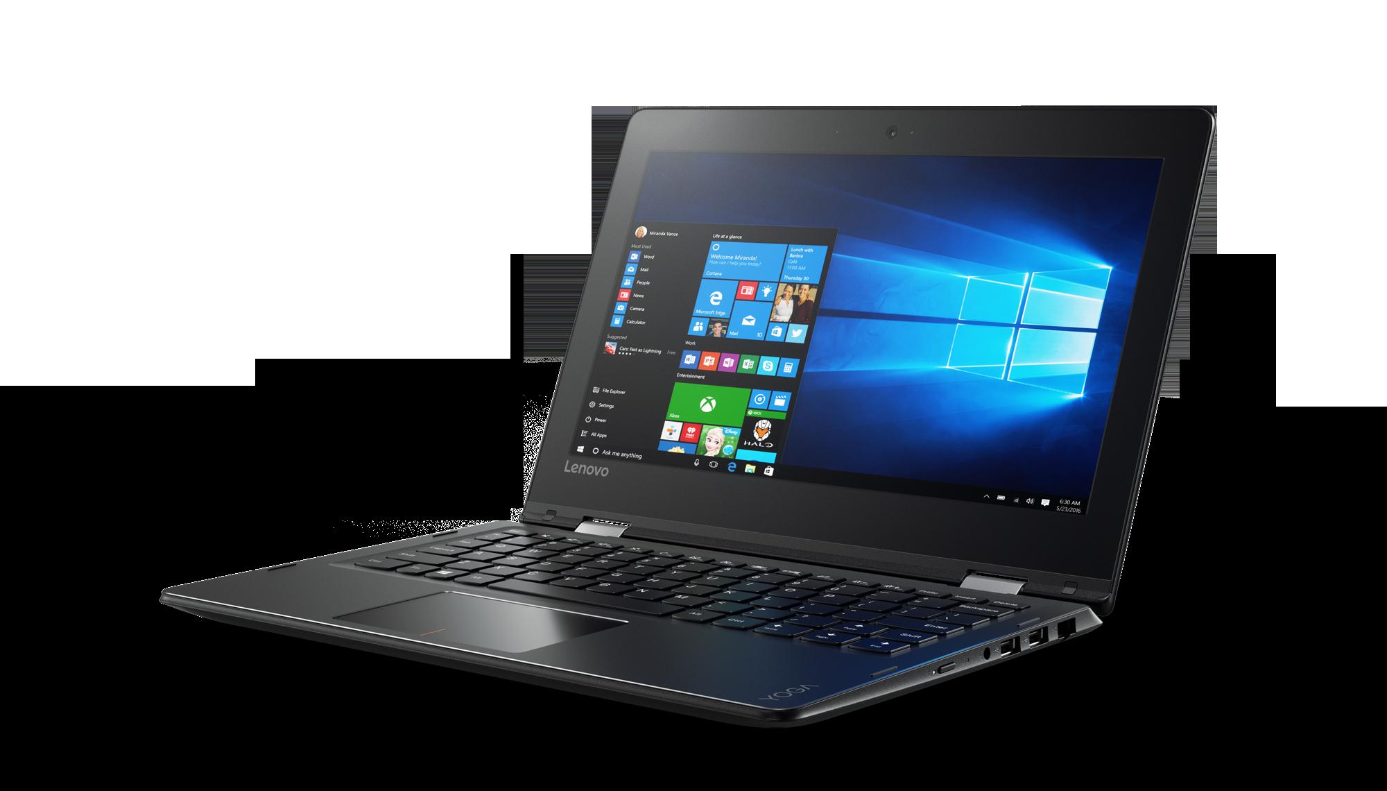 "Lenovo YOGA 310-11IAP Celeron-QC N3450 2,20GHz/4GB/32GB/11,6"" HD/IPS/AG/multitouch/WIN10 černá 80U20067CK"