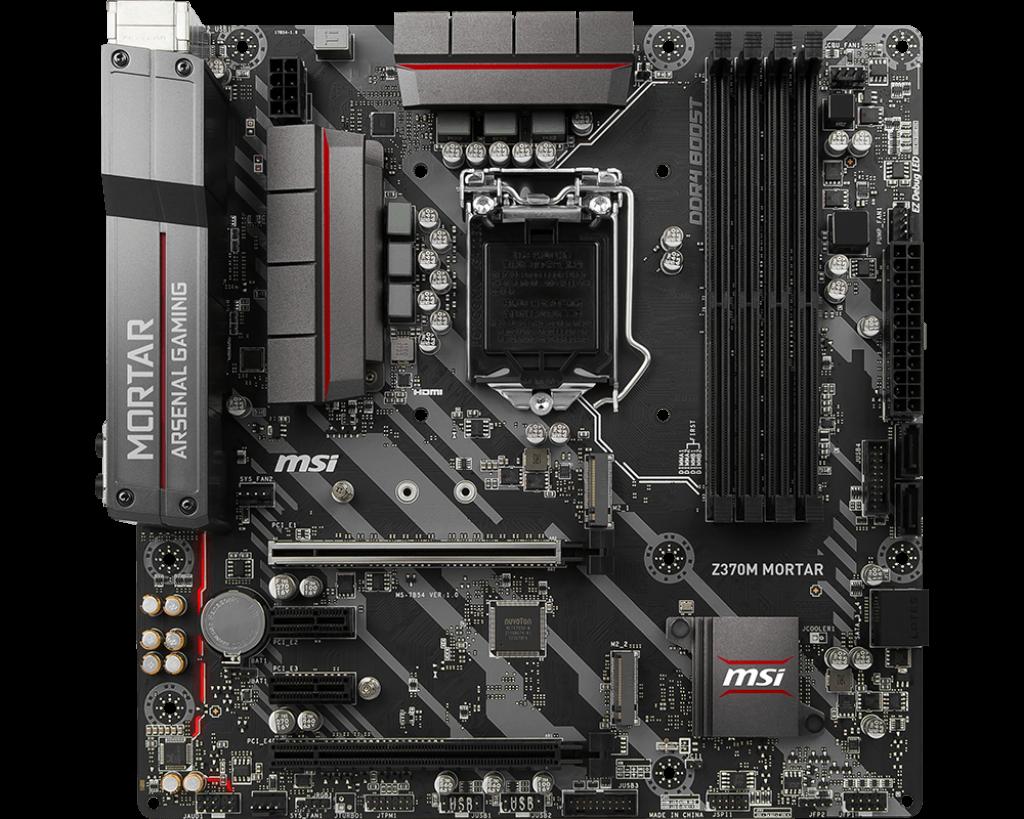 MSI MB Sc LGA1151 Z370M MORTAR, Intel Z370, VGA, 4xDDR4
