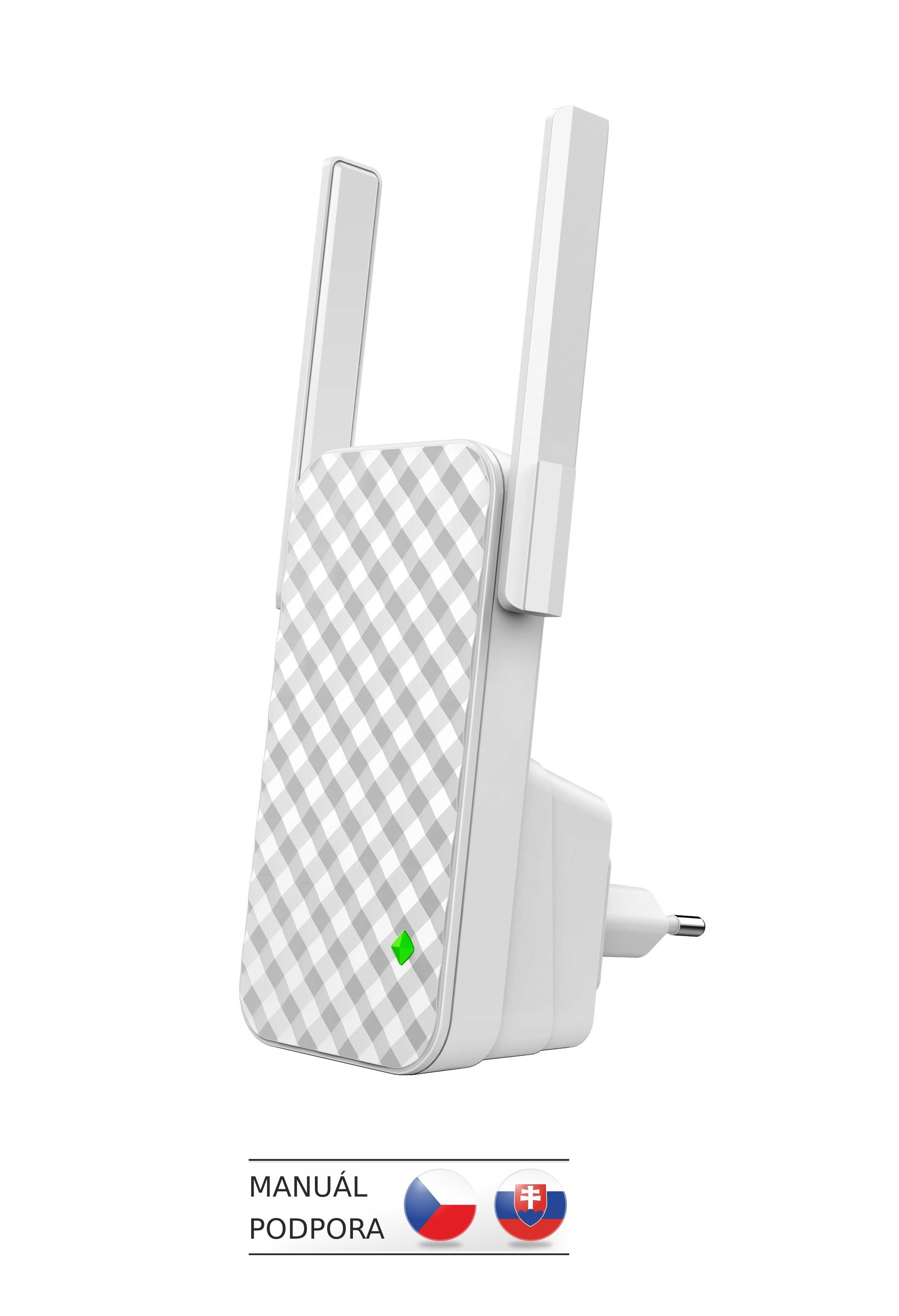 Tenda A9 - Wireless-N Range Extender, opakovač 300 Mb/s, WPS, 2x 3 dBi anténa