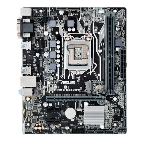 ASUS PRIME B250M-K, 1151, B250, 2xDDR4, PCIe 3.0x16, SATAIII, USB3.0, M.2, DVI-D/D-Sub, mATX