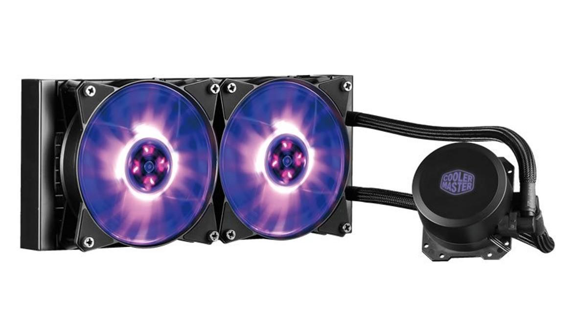 vodní chladič Cooler Master MasterLiquid ML240L RGB, univ. socket, 240mm PWM fan