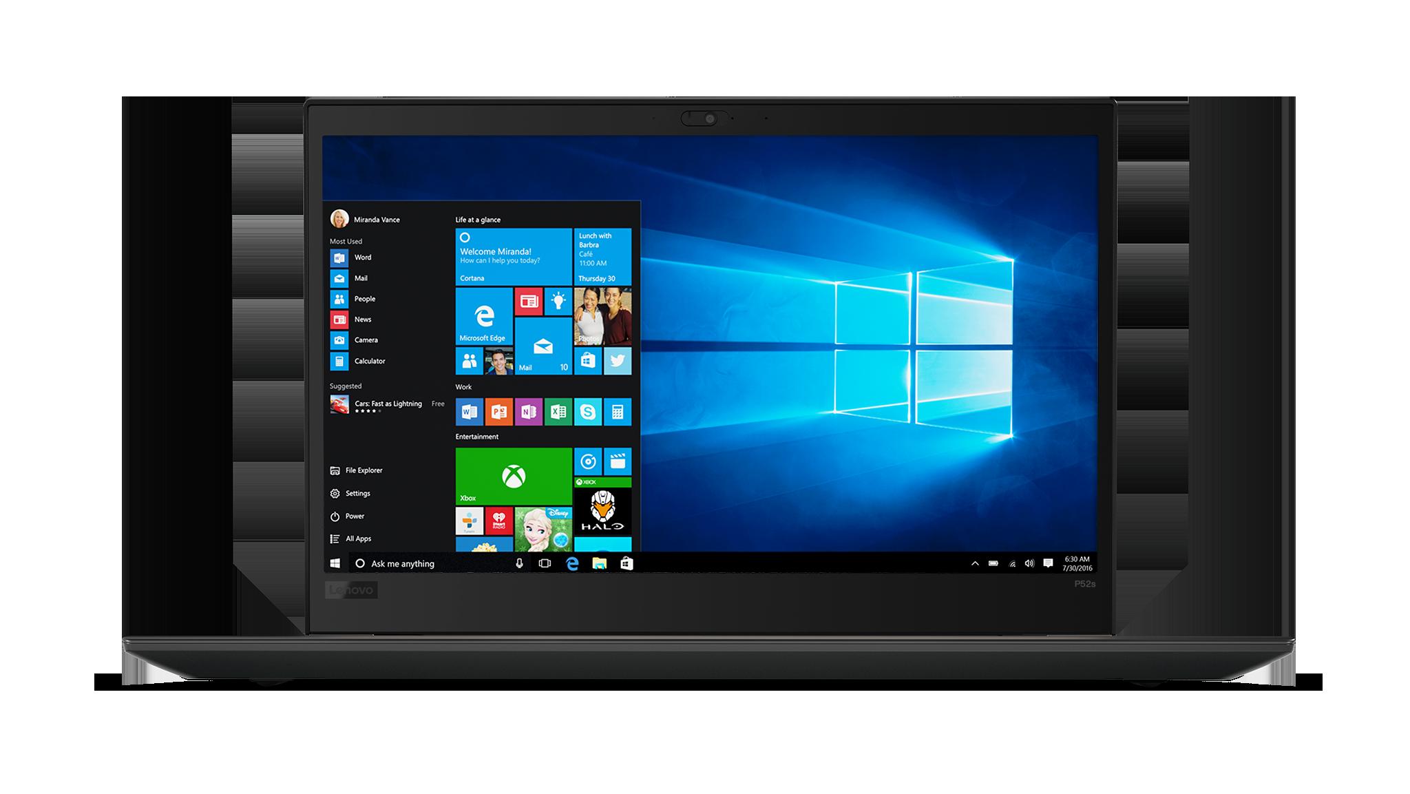 Lenovo Thinkpad P52s 15.6F/i7-8650U/512SSD/16GB/P500 2G GDDR5/F/W10P/černý + monitor X24-20 ZDARMA