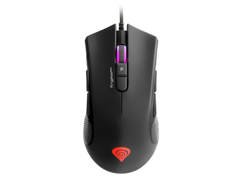 Herní myš pro leváky a praváky Genesis Krypton 800, RGB podsvícení, software, 10200DPI