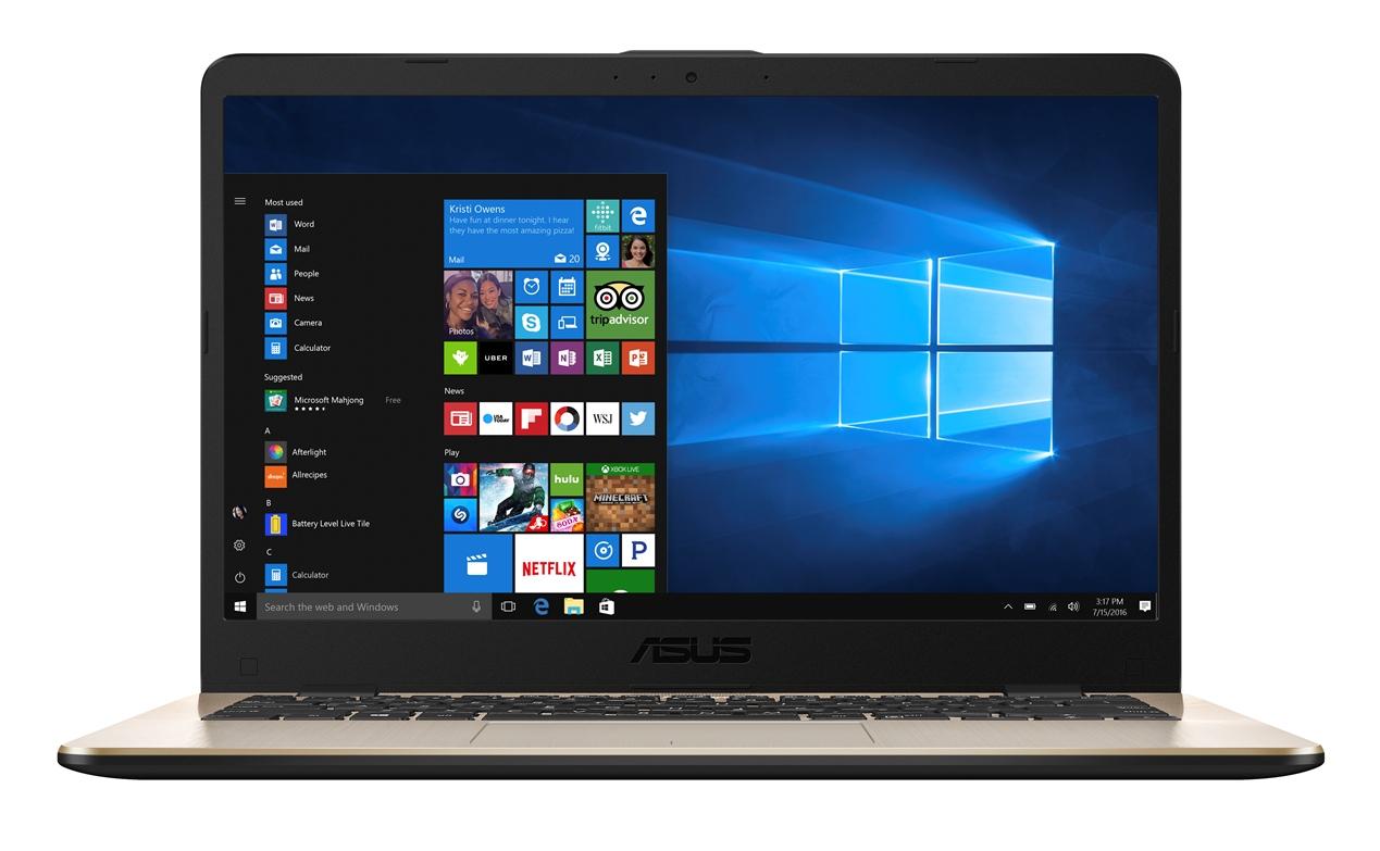 """ASUS X405UA-EB760T Core i3-6006U/4GB/500GB 5400 ot./Intel HD Graphics 320/14"""" 1920x1080 FHD/Matný/BT/W10 Home/Golden"""