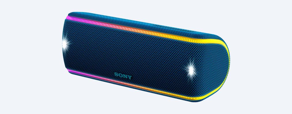 SONY SRS-XB31L Přenosný bezdrátový reproduktor s technologií BLUETOOTH, Blue