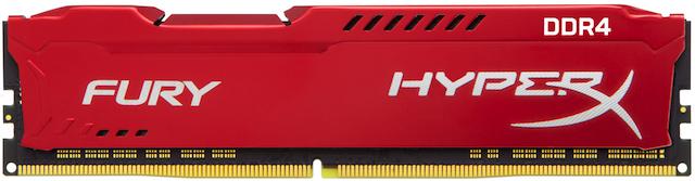 Kingston DDR4 16GB HyperX FURY DIMM 3466MHz CL19 červená