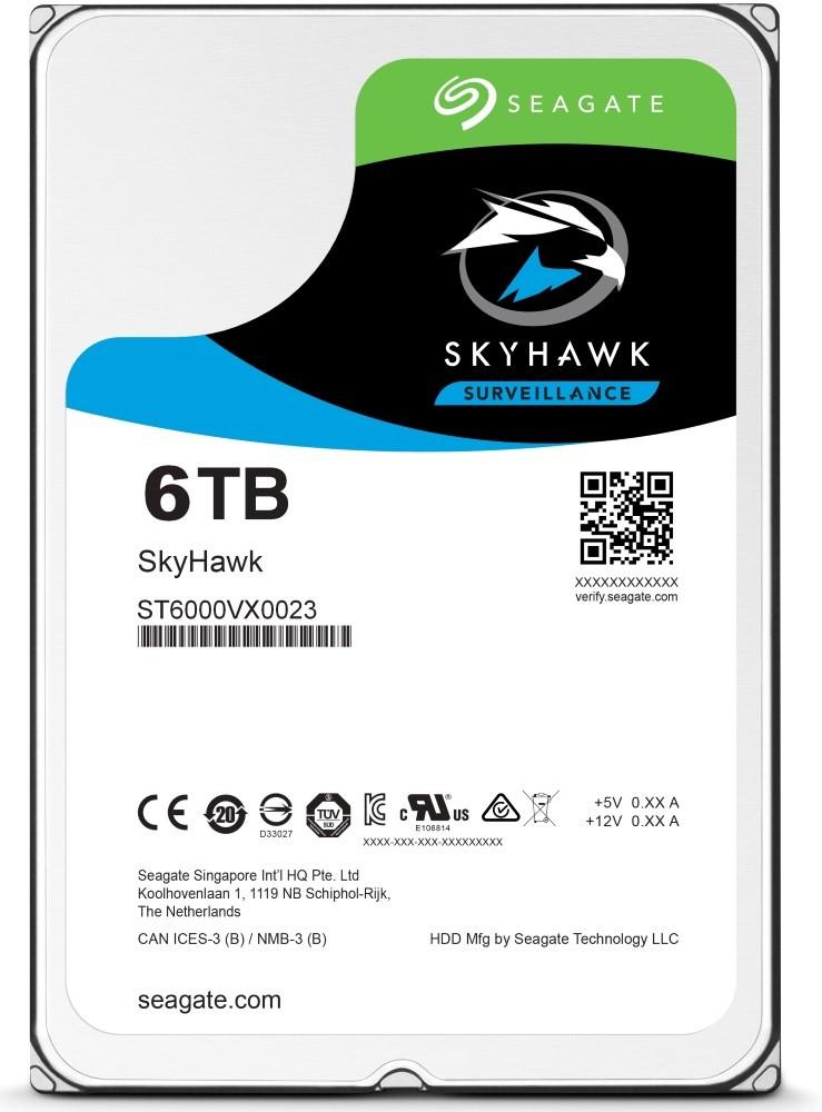 Seagate SkyHawk HDD, 6TB, SATAIII, 256MB cache, 5.400RPM