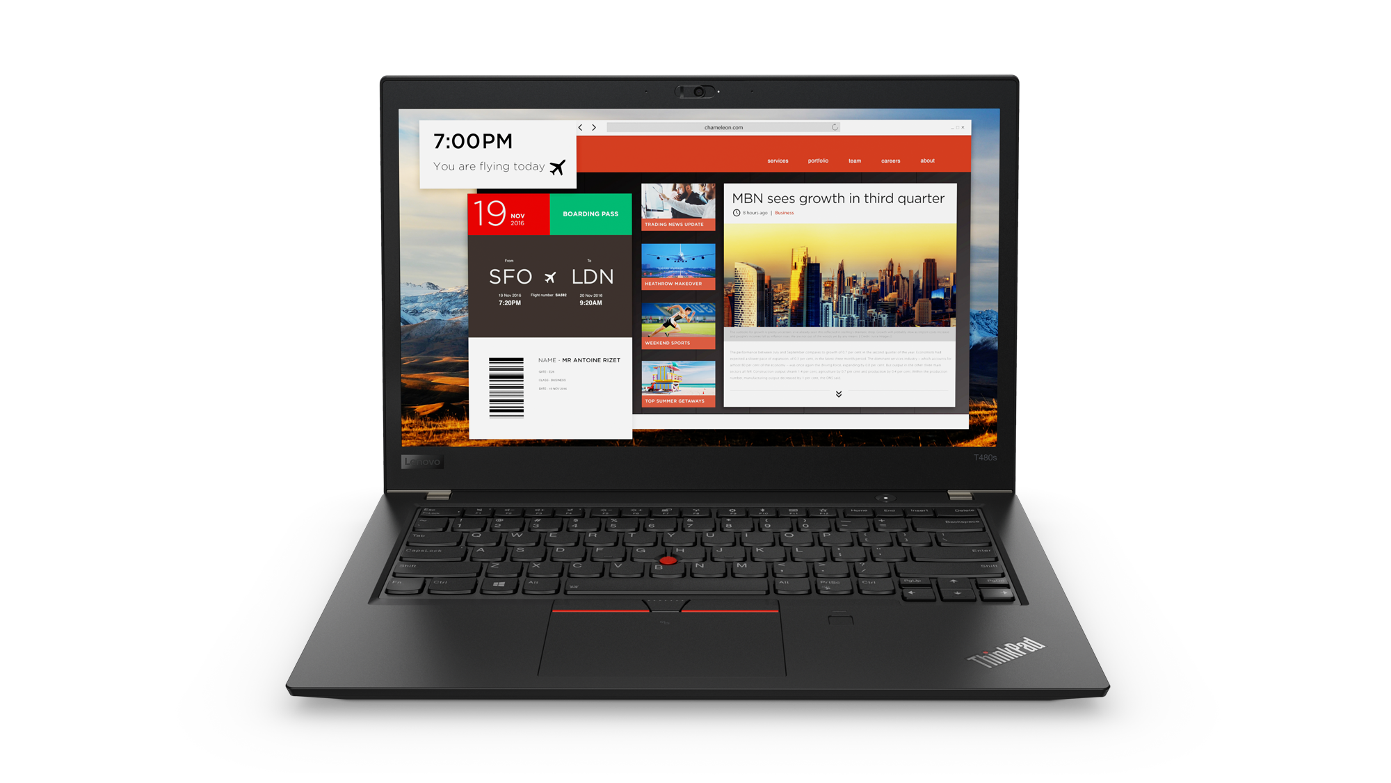 Lenovo Thinkpad T480s 14F/i7-8550U/8GB/256/F/ Intel HD /LTE/W10P/černý