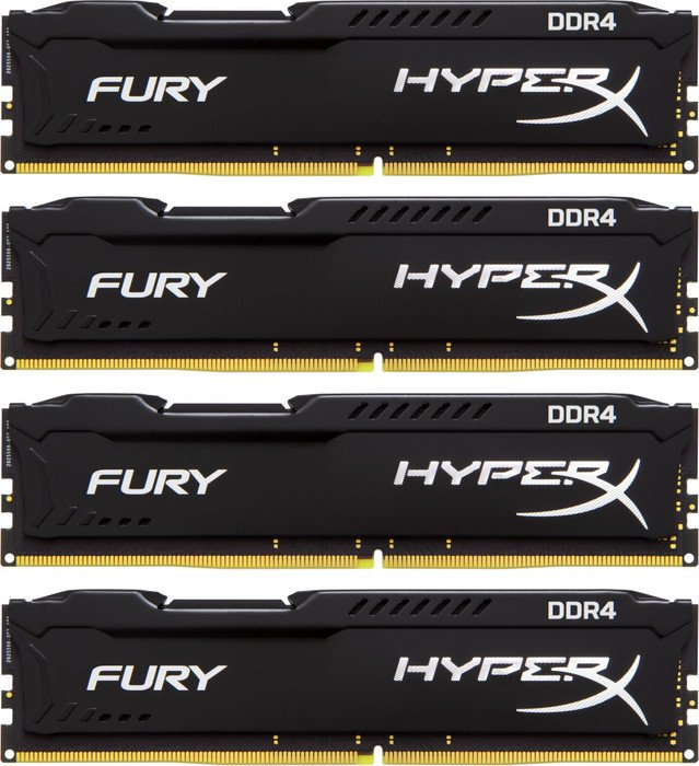 Kingston DDR4 64GB (Kit 4x16GB) HyperX FURY DIMM 2933MHz CL17 černá